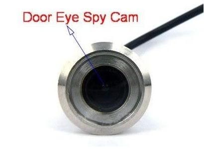 1 8mm wire cctv door eye hole security color camera for Door eye hole