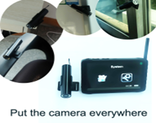 Wireless Borescope Camera With Paste Camera Seat + 2.4GHz wireless camera Mini HD DVR receiver monitor