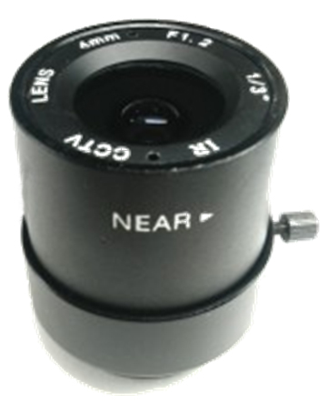 4mm Fixed Aperture Manual Gathered IR Lens 1/3 CS F1.2 CCTV Camera